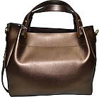 Женская бронзовая сумка Michael Kors (28*32*13), фото 2