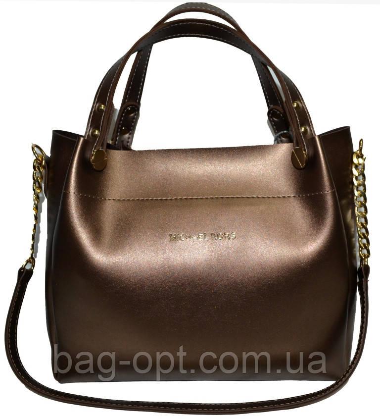Женская бронзовая сумка Michael Kors (28*32*13)
