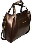 Женская бронзовая сумка Michael Kors (28*32*13), фото 3