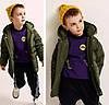 Курточка на пуху Оливка, фото 6