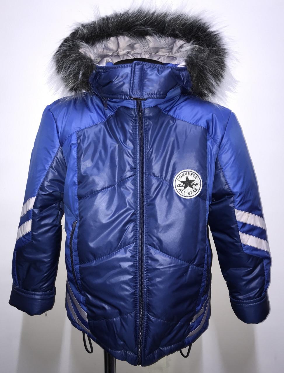 Детская курточка Зима две полоски рост 86-104