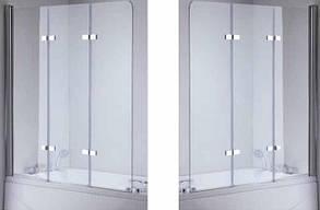 Стеклянная шторка для ванны 120х140 см , фото 3