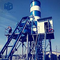 Бетонный завод АБСУ-40 производительностью 40 м3/час (скип/конвейер)