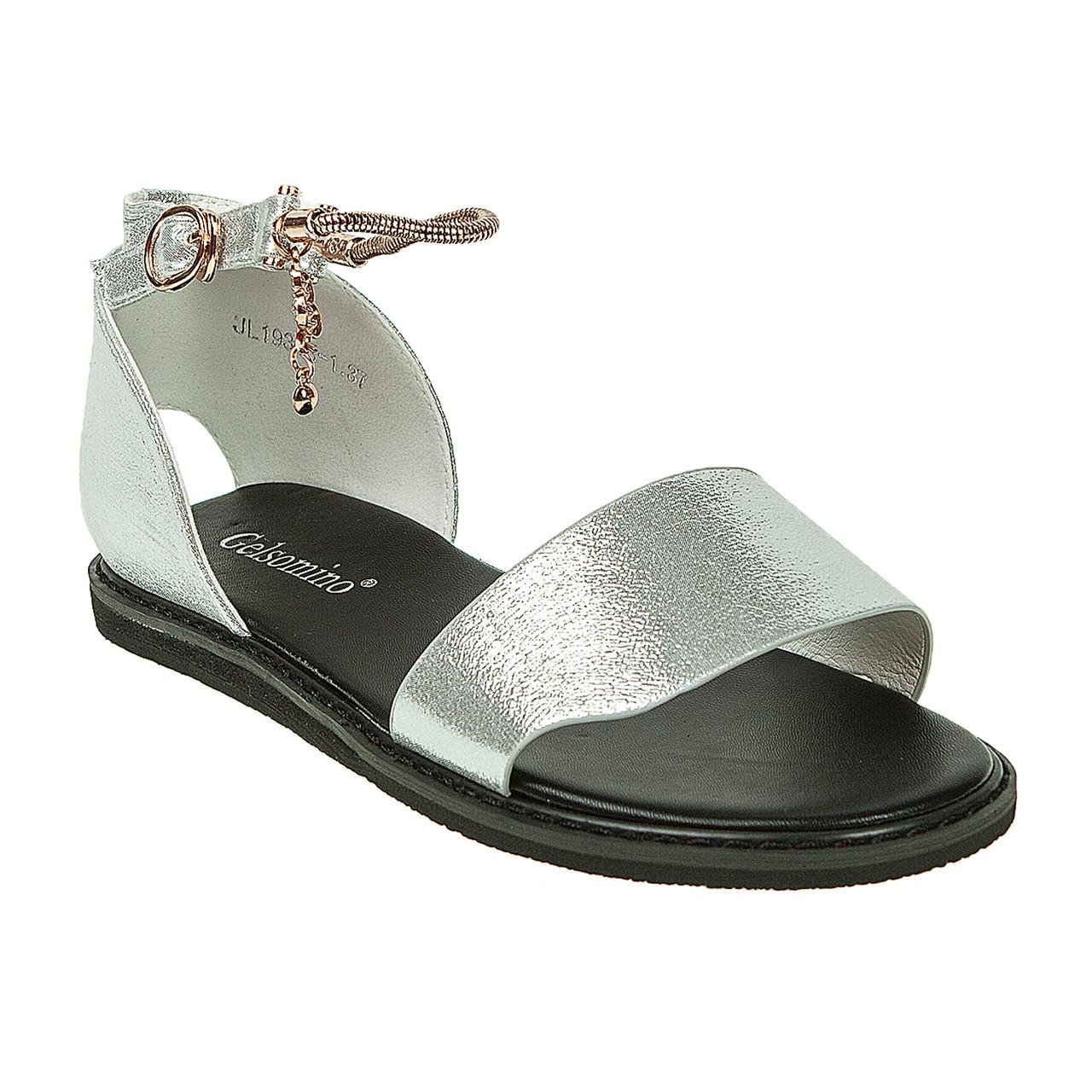 44ac42df3 Сандалии женские Gelsomino (стильные, модные, удобные, серебристые) -  Интернет-магазин