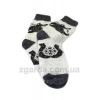 Мужские ангоровые носки в черно-сером цвете