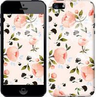 """Чехол на iPhone 5s Розы акварелью """"3667c-21-15168"""""""