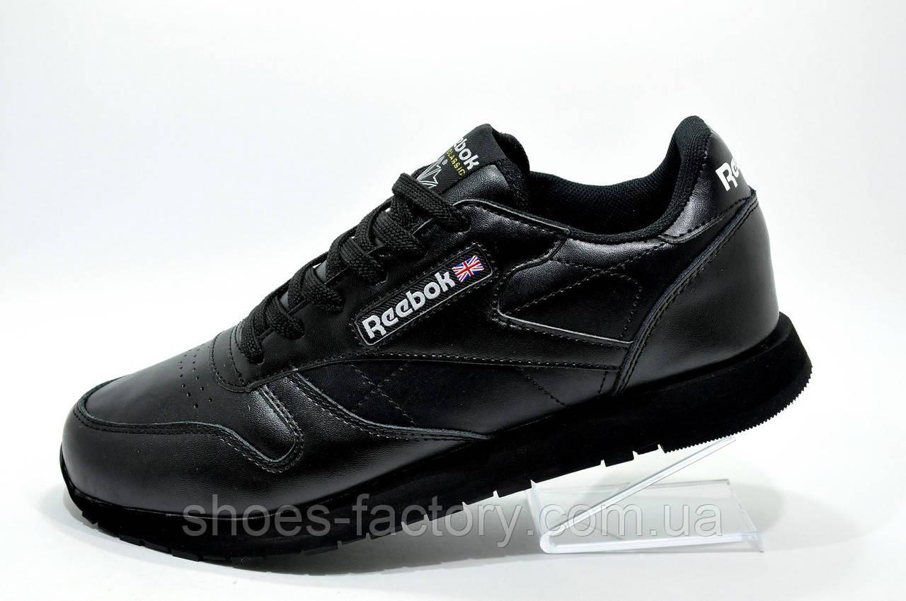 Кроссовки мужские в стиле Reebok Classic Leather, Premium Black