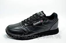 Кроссовки мужские в стиле Reebok Classic Leather, Premium Black, фото 3
