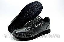 Кросівки чоловічі в стилі Reebok Classic Leather, Premium Black, фото 2