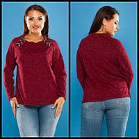 Кофта женская нарядная большие размеры ангора-софт АНД5106, фото 1