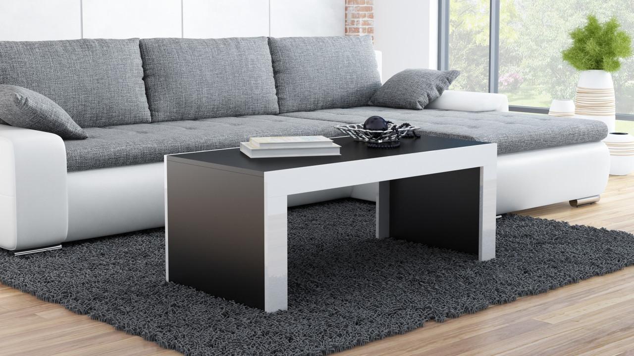 Журнальный столик TESS Cama черный/белый глянец