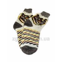 Мужские ангоровые носки с рисунком тигра