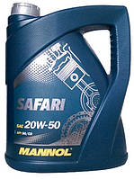 Моторное масло минеральное Mannol (Маннол) SAFARI 20w50 5л