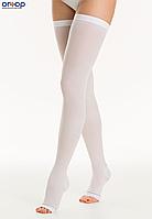 Лечебные противоварикозные чулки Relaxsan Medicale Anti-Embolizm 1 класс компрессии (18-23 мм рт.ст), белый, 1, Открытый носок, Стандартный, 1 класс, фото 1