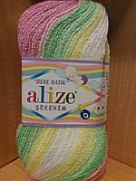 Детская акриловая пряжа (100%акрил,100г/320м) Alize Sekerim bebe batik 3067