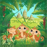 """Вышивка бисером """"Три обезьянки"""" ВБ 1052"""