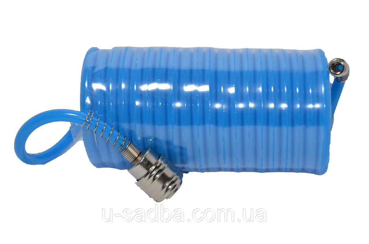 Шланг спиральный PU 5.5*8 мм, 10 м