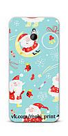 Чехол для HTC One mini 601 (Дед Мороз)