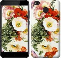 "Чехол на Xiaomi Redmi 4X Raoul de Longpre. Маки ""1972c-778-15168"""