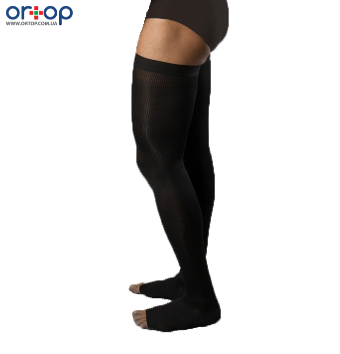 Чулки мужские с открытым носком 2 класс компрессии 230 Den (рост 165-180см), S