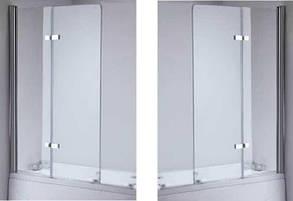 Стеклянная шторка для ванны 100х140 см 2 секции, фото 3