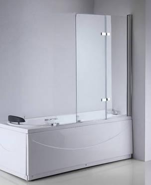 Стеклянная шторка для ванны 100х140 см 2 секции, фото 2