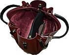 Женская бордовая сумка с клачем Michael Kors (28*32*14) , фото 5