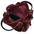 Женская бордовая сумка с клачем Michael Kors (28*32*14) , фото 4