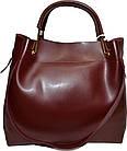 Женская бордовая сумка с клачем Michael Kors (28*32*14) , фото 2