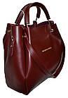 Женская бордовая сумка с клачем Michael Kors (28*32*14) , фото 3
