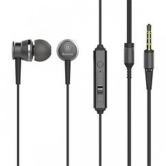 Наушники Baseus Lark Series Wired Earphones Grey (HF-000182)