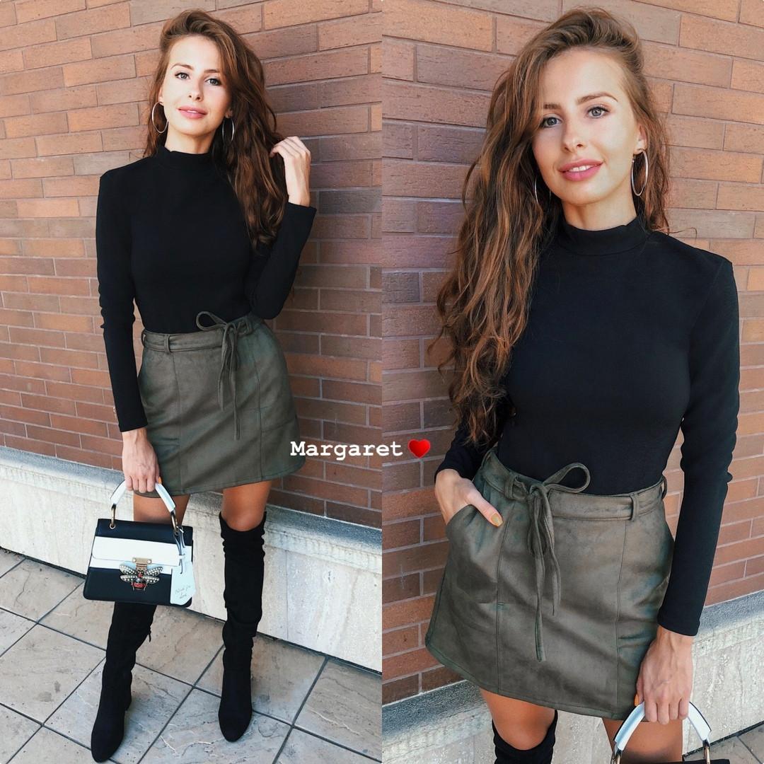 Стильная замшевая юбка в  расцветках