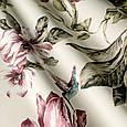 Красивая ткань для штор с цветами и птицами розовый, фото 2