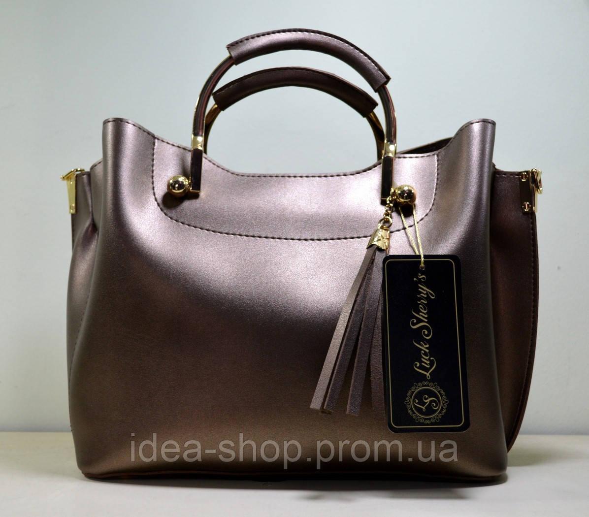 Отличная бронзовая сумочка для девушки