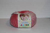 Детская пряжа меланж ализе беби вул батик для ручного вязания