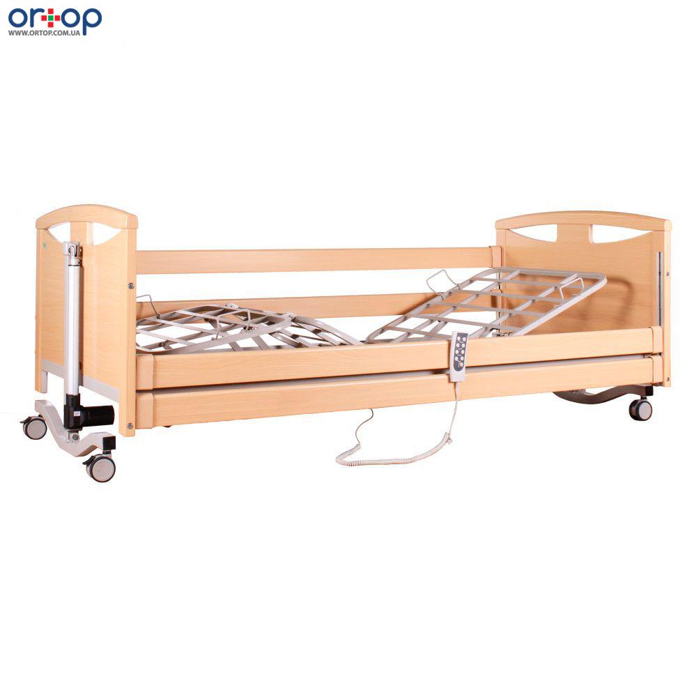 Кровать деревянная с усиленным ложем и электромотором.