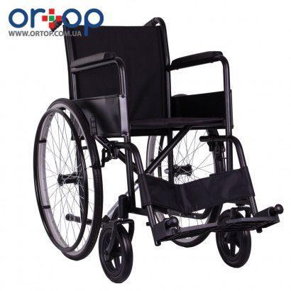 Стандартная инвалидная коляска ECONOMY-1 с литыми задними колесами, 46 см