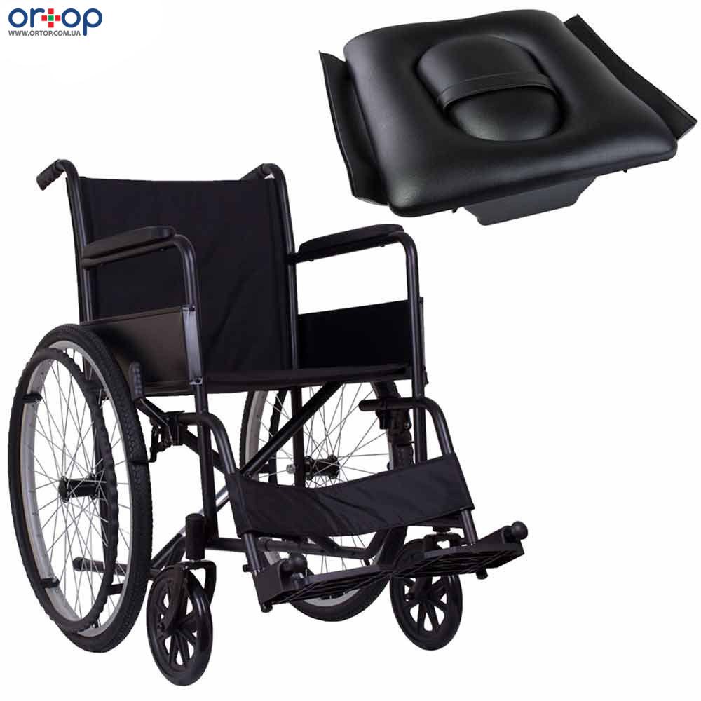 Стандартная инвалидная коляска ECONOMY-2 с санитарным оснащением, 46 см