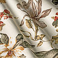 Стильная ткань для штор цветы птицы оранжевый, фото 2