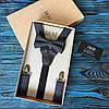 Набор I&M Craft галстук-бабочка + подтяжки для брюк в клеточку (030254)