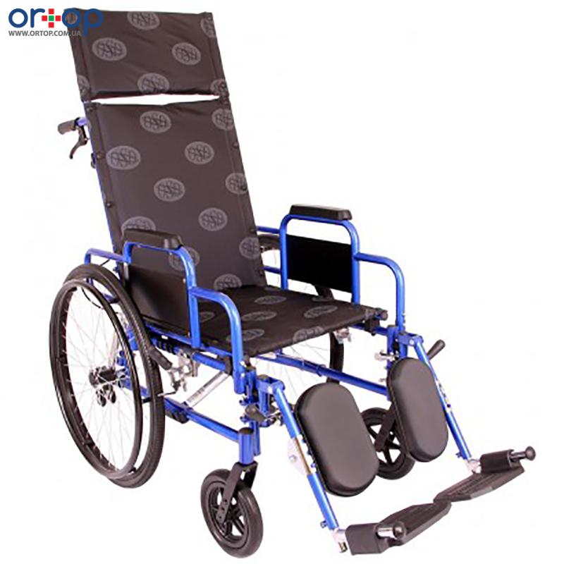 Многофункциональная коляска «Recliner » (с откидной спинкой) синяя, 50 см