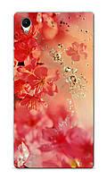 Чехол для Sony Xperia Z1 C6902 (Цветочки)