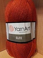 100% акрил (100г/300м) YarnArt Elite 847(терракот)
