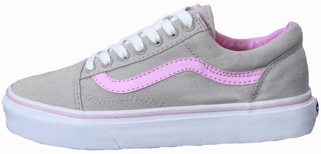 Женские Кеды Vans Old Skool Suede Grey Pink Line — в Категории ... 7f6e901c3c2