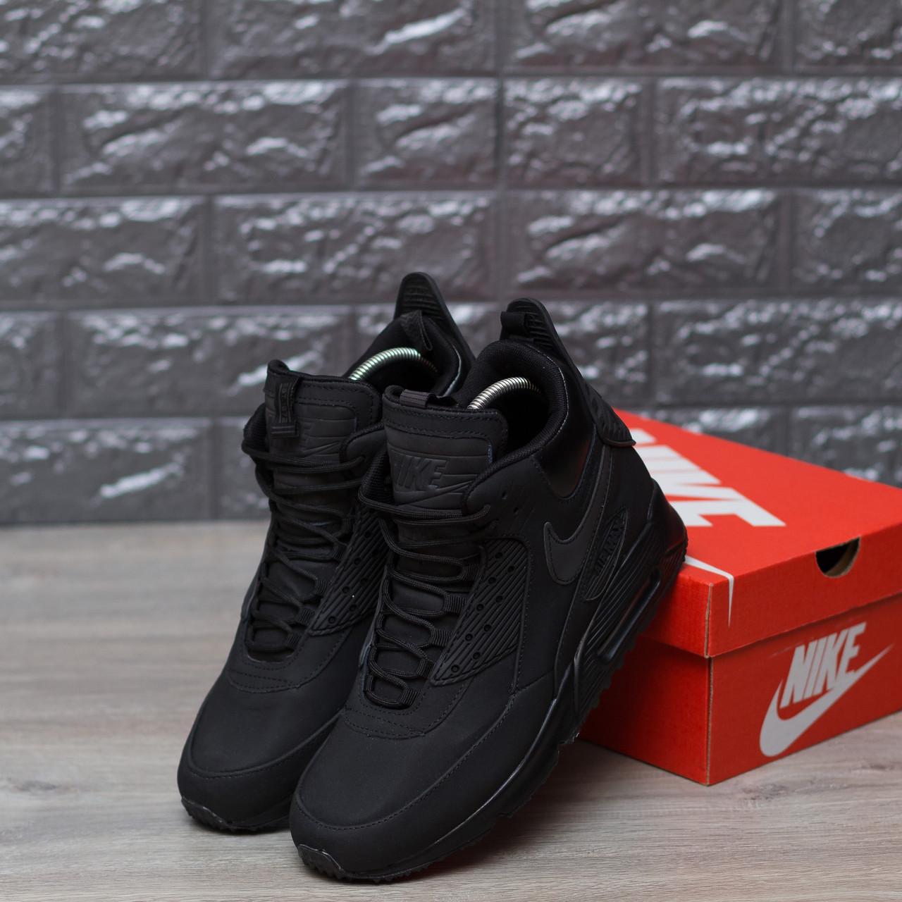 a790f824 Мужские зимние кроссовки Nike air max 90 winter black - Интернет-магазин