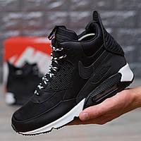 9e29bbfe Мужские зимние кроссовки Nike air max 90 winter black and white