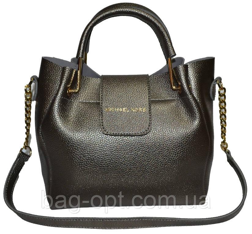 Женская серебряная сумка Michael Kors (26*27*13)