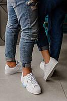 Кроссовки Adidas SUPERSTAR белые, кожаные, мужские и женские ( реплика ААА класса ), фото 1