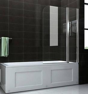 Стеклянная шторка для ванны 80х140 см А45, фото 2