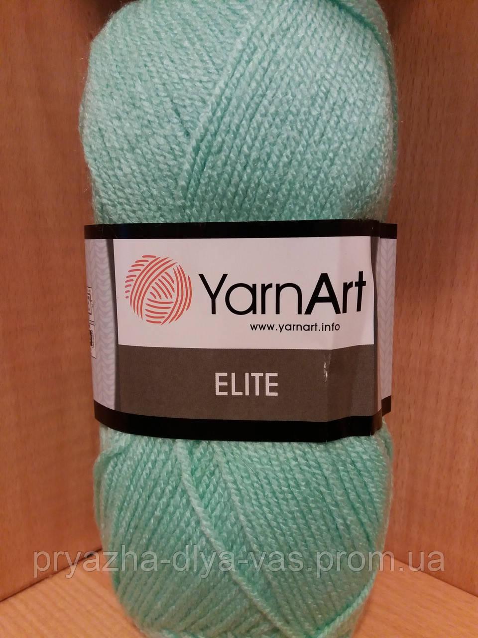 100% акрил (100г/300м) YarnArt Elite 841(водяная зелень)